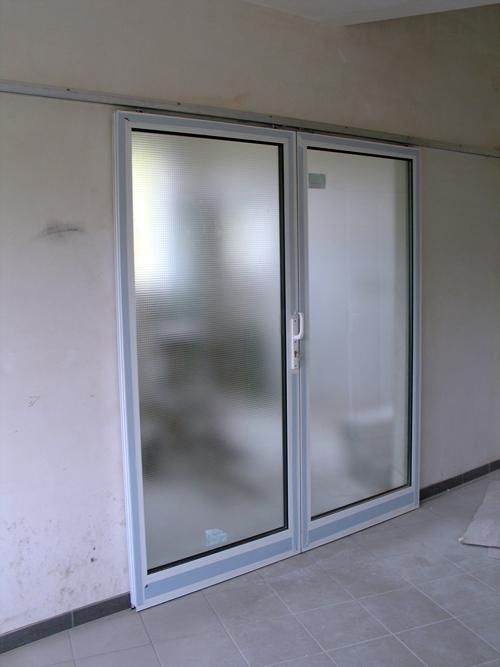 Drzwi przesuwane aluminiowe - Gabinet stomatologiczny Gdańsk ul.Wileńska