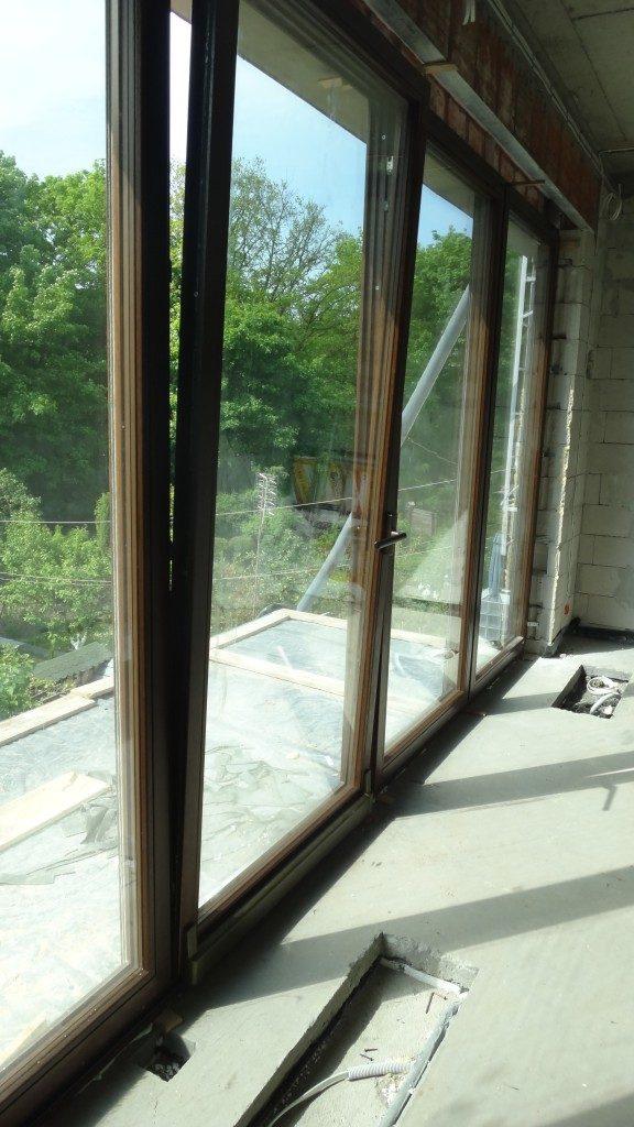 Okno drewniane uchylno-przesuwne - inwestor prywatny