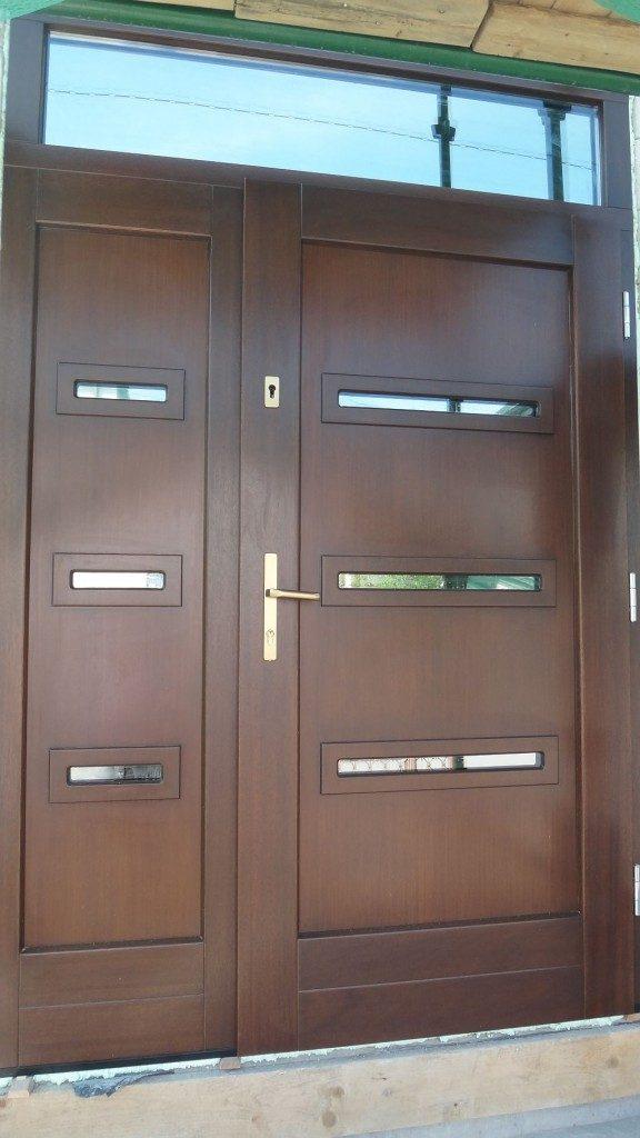 Drzwi wejściowe drewniane - inwestor prywatny